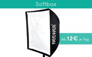 Ausrüstung für Produktvideos Softbox