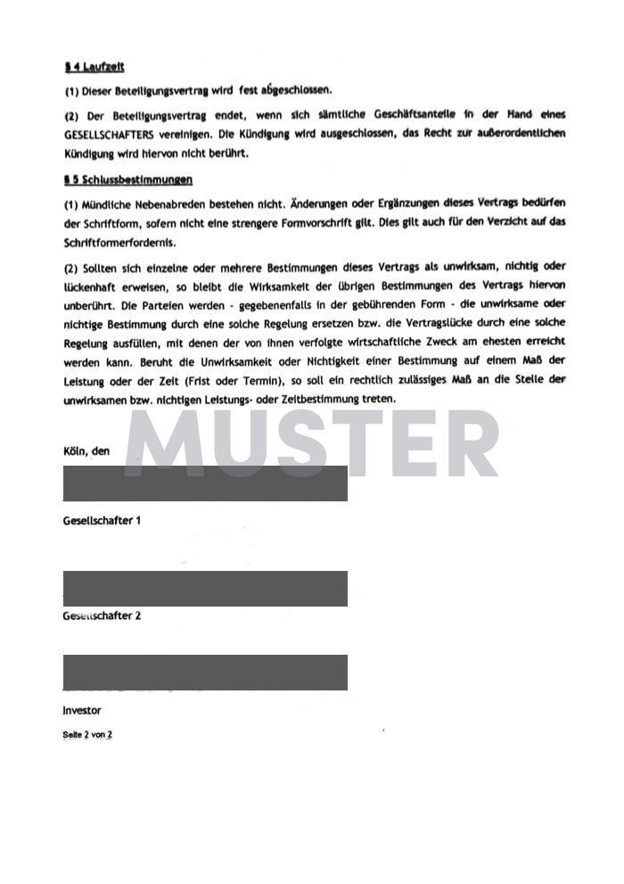 gearo KYC Beispieldokument Gesellschaftervertrag II